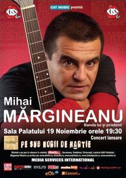 Concert Mihai Margineanu la Sala Palatului din Bucuresti