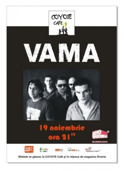 Concert Vama in Coyote Cafe din Bucuresti