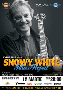Concert Snowy White in Hard Rock Cafe din Bucuresti