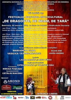 Festivalul National Multicultural De dragoste, de neam, de tara la Casa de Cultura a Sindicatelor din Suceava