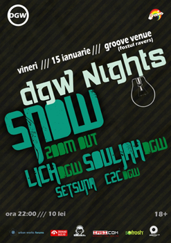 DJ Snow in Groove Venue din Iasi