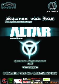 Concert Altar & Deliver The God în Club Fabrica din Bucureşti