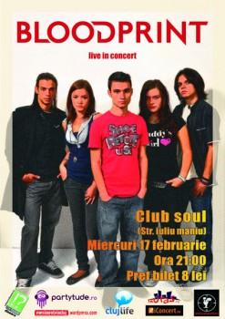 Concert BloodPrint în Club Soul din Cluj-Napoca