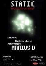 Marius D la Static Lounge din Vaslui