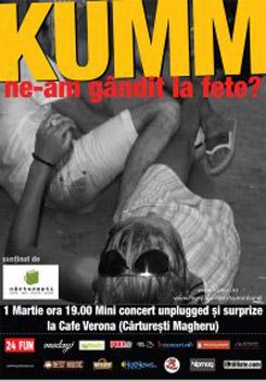 Concert Kumm la Cafe Verona din Bucureşti