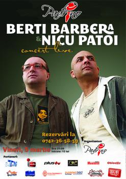 Concert Berti Barbera & Nicu Patoi în Pub Padrino din Suceava