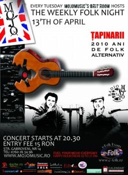Concert Ţapinarii în Club Mojo-Brit Room din Bucureşti