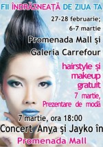 Concert Anya şi Jay Ko în Promenada Mall din Sibiu