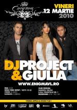 Concert Dj Project & Giulia în Club Enigma din Râmnicu Vâlcea