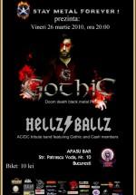 Concert Gothic & Hellz Ballz la Apasu Bar din Bucureşti