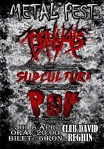 Metal Fest în David Club din Reghin