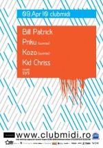 Bill Patrick în Club Midi din Cluj-Napoca