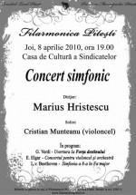 Concert Simfonic la Casa de Cultură a Sindicatelor din Piteşti