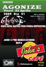 Concert Agonize la John's Cafe din Deva