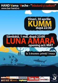 Concert Kumm şi Lună Amară la Terasa Hand din Vama Veche