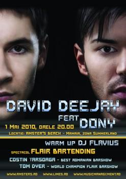 David Deejay feat. Dony la Amster's Beach din Mamaia