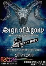 Concert Sign Of Agony & Heavy Duty la Bohemian Flow din Sibiu