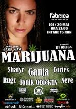 Concert Marijuana în Club Fabrica din Bucureşti