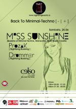 Back to Minimal Techno în Club Celso din Timişoara