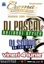 DJ Pascal & DJ Simon la Crema Summer Club din Mamaia