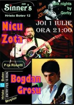 Concert Nicu Zota & Bogdan Grosu în Club Sinner's din Bucureşti