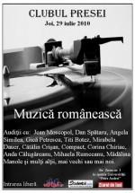 Muzică Românească la Clubul Presei din Iaşi