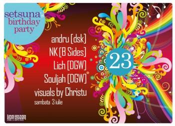 Setsuna's Birthday Party în Club Brain din Iaşi