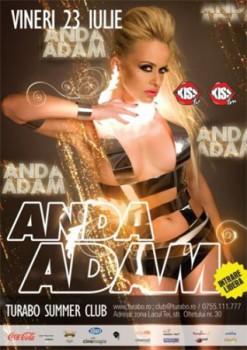 Concert Anda Adam în Turabo Summer Club din Bucureşti