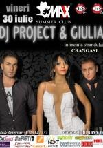 Concert DJ Project & Giulia în Maxx Summer Club din Bucureşti