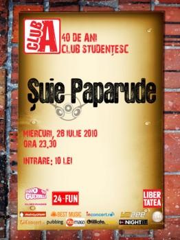 Concert Şuie Paparude în Club A din Bucureşti