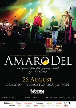 Concert Amaro Del în Club Fabrica din Bucureşti