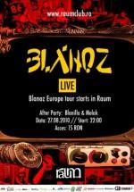 Concert Blanoz în Club Raum din Cluj-Napoca