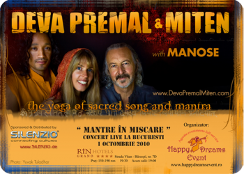 Concert Deva Premal & Miten la Rin Grand Hotel din Bucureşti