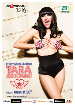 Friday Night Clubbing with Tara McDonald la Club Elements din Bucureşti