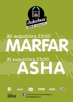 Concert Marfar şi Asha în Club Jukebox din Bucureşti
