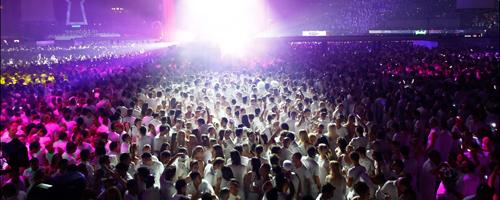 Revelion 2011 Sensation Ocean of White la Romexpo din Bucureşti