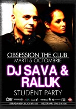 DJ Sava & Raluka la Club Obsession din Cluj-Napoca