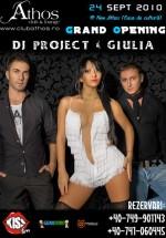 Concert Dj Project & Giulia la Club Athos din Baia Mare