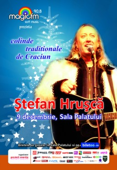 Concert Ştefan Hruşcă la Sala Palatului din Bucureşti