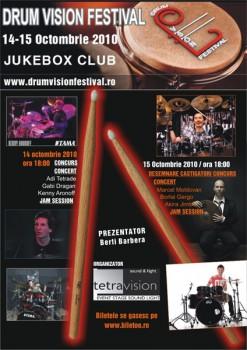 DrumVision Festival 2010 în Club Jukebox din Bucureşti