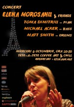 Concert Elena Moroşanu & friends la Tête-à-Tête Coffee Art & Chill din Bucureşti