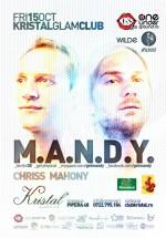 M.A.N.D.Y la Kristal Glam Club din Bucureşti