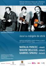 Natalia Pancec, Gabriel Spahiu şi Maxim Belciug la Biblioteca Naţională din Bucureşti