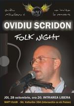 Concert Ovidiu Scridon la Watt Club din Bucureşti