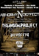 Abnormyndeffect, The Arson Project, Progeria & Intestinal Tumor la Discotheque Vox din Suceava