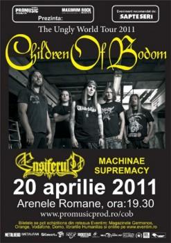 Concert Children Of Bodom, Ensiferum şi Machinae Supremacy la Bucureşti
