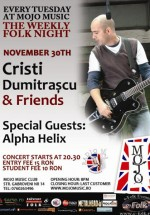 Concert Cristi Dumitrascu & Friends la Club Mojo-Brit Room din Bucureşti