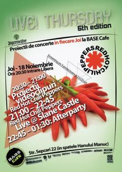 Live Thursday 6th edition la Base Cafe din Bucureşti