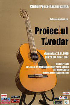 Concert Proiectul Tivodar la Clubul Presei din Iaşi