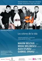 Concert Maxim Belciug, Mihai Melinescu şi Alex Sturzu la Biblioteca Naţională din Bucureşti
